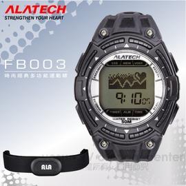 【ALATECH】時尚經典多功能運動錶.腕錶.車錶.手錶.碼表 /自行車訓練.跑步路跑.三鐵健身/ FB003 黑