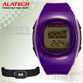 【ALATECH】簡約流行多功能運動錶.腕錶.車錶.手錶.碼表 /自行車訓練.跑步路跑.三鐵健身/ FB005 紫