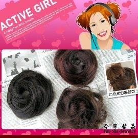 【winshop】A1513 日系甜甜圈髮束、快速變髮接髮假髮丸子頭,增加髮量好幫手!!