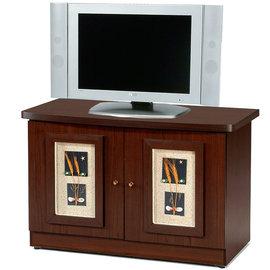 ~Homelike~自然風味雙門電視櫃 書櫃 展示櫃 收納櫃 ^(胡桃色^)