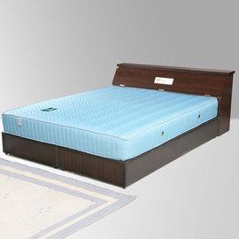 ~Homelike~席歐6尺雙人加大床組 二線獨立筒床墊^(床頭箱 床底 獨立筒^) ^(