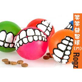 ROGZ 笑笑球(M)牙齒球抗憂鬱狗玩具^~中型犬.彈力耐咬浮水益智玩具