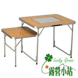 大林小草~【73150082】LOGOS 雙子星烤爐桌、火鍋桌、BBQ 烤肉爐 折合桌