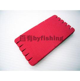 ◎百有釣具◎進口海棉 100子線板 長:10公分 寬:5.5公分