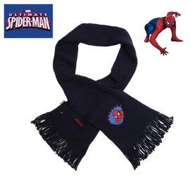 出口歐洲SPIDERMAN蜘蛛人藏藍色流蘇款針織圍巾^(3歲以上 ^) 上市^~