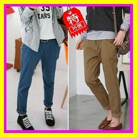 零碼 ~3色3段码~潮流復古寬鬆休閒褲鉛筆褲窄管褲~ KK~158~S^~L ^( ^)