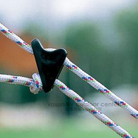 【VOSUN 】塑膠營繩調節片/三角調節片.輕鬆易調整.登山.露營.戶外必需品/黑 FB-095