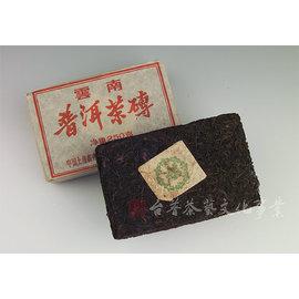 ~雅品苑茶莊~TPC~B24_~80年代末^~綠八中油光紙茶磚~^(熟茶250g^)_古樹