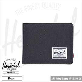 Herschel 皮夾  短夾 Roy~165 黑色 內斂_校園 款  MyBag得意時袋