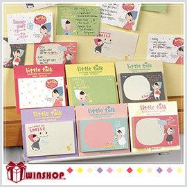 【Q禮品】A1521 韓版小紅帽便利貼/N次貼便條紙便簽本便條本隨身本筆記本memo紙