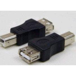 印表機孔轉USB 打印口(公)-USB(母) 公對母/公轉母 轉接頭/轉換器