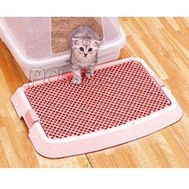 【來店自取現金價$460】日本IRIS貓用多功能落砂墊(砂踏墊)貓咪專用刮砂板NO-550(粉色)