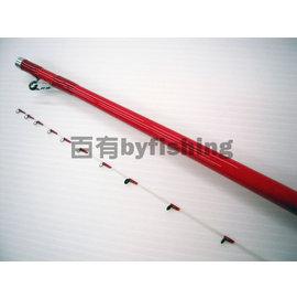 ◎百有釣具◎台灣製造 寸真釣具 小潮 紅色筏竿 規格150