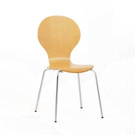 【Ailiwu愛麗屋】曲線造型米樂椅─本色#1493 - 辦公椅/餐椅/書桌椅/電腦椅/洽談椅/會議椅