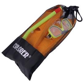 HU-09戲水三寶收納網袋(可收納 蛙鞋+呼吸管+面鏡) 可收納防滑鞋 溯溪鞋