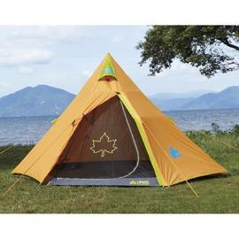探險家露營帳篷㊣NO.71805002 日本品牌LOGOS炫麗桔楓印地安帳篷300  尖頂鋁合金通風四人帳棚