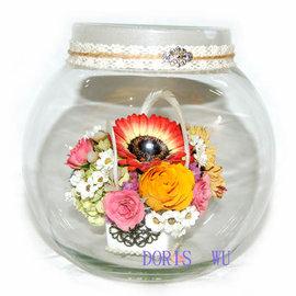 【花現幸福】☆魔法~祝福香頌~花妍瓶2500元贈愛心造型蠟燭☆Doris' Garden of Bliss