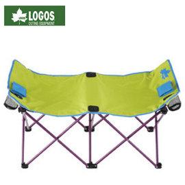 【日本 LOGOS】輕量小體積 雙人戀愛長椅 (含置杯袋).情人椅.對對椅.長凳.輕巧休閒椅.折合椅.野餐椅.露營椅.折疊椅/ LG73176000 綠
