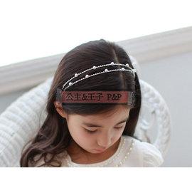 ~C19~兒童禮服髮飾 結婚頭飾 可愛精緻閃亮水鑽珍珠髮圈髮箍 花童頭飾~P  P~