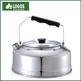 【日本 LOGOS】U-30 日式不鏽鋼水壺800ml《0.4mm厚底》(附收納袋).泡茶壺 /收納方便.導熱快易沸.露營.登山.咖啡/ LG81210303