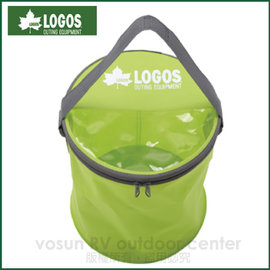 【日本 LOGOS】FD可提式大嘴口折疊軟水桶 7.5L (含蓋).水袋.冰桶袋.工具儲物袋.保冰袋.蓄水袋.適露營.釣魚.休閒 /LG88230160