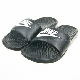 NIKE 基本款男運動拖鞋-黑/白 (343880090)