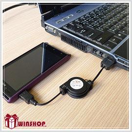 【winshop】A1527 伸縮micro usb手機傳輸線/手機充電線三星 samsung HTC SONY