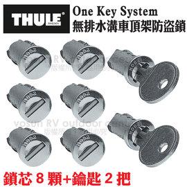 【瑞典 THULE】One Key System 無排水溝車頂架防盜鎖(8顆鎖芯)/適用於THULE的車頂架.攜車架鎖孔/588