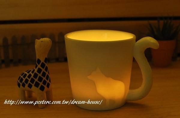 zakka乡村风陶瓷猫咪杯子造型蠋台★超可爱喔