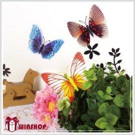【winshop】B1528 磁性夜光蝴蝶冰箱貼/仿真蝴蝶 造型磁鐵 白板貼 壁貼