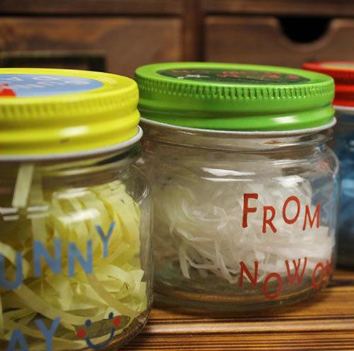 迷你袖珍可爱多表情彩色玻璃许愿瓶每个特价69元