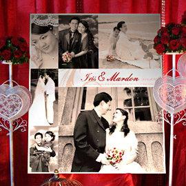 ╭~幸福朵朵~╯畫架迎賓板B款~ 1200元~~婚禮佈置│婚紗大圖~免完稿費~婚禮小物