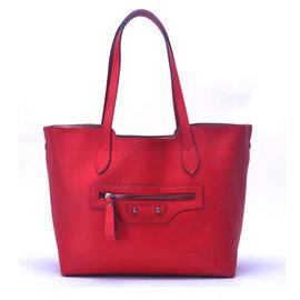 ~YULEE~真皮~都會可拆式內袋兩用包~玫瑰紅WH~C001~51