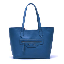 ~YULEE~真皮~都會可拆式內袋兩用包~寶石藍WH~C001~72