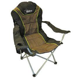 【Outdoorbase】太平洋 高背 三段式休閒椅(熱賣款).太師椅.野餐椅.露營椅.折疊椅.導演椅.三段椅(非速可搭) 黑/咖啡 25001
