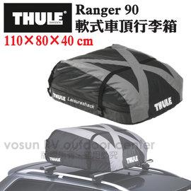 【瑞典 THULE】Ranger 90 軟式車頂行李箱(280L,110x80x40cm).置物箱.防水行李包/登山.露營/安裝及收納便利