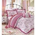 YvH POLO 9916 歐風香榭 粉色小玫瑰 加大6x6.2尺鋪棉床罩6件組 100^