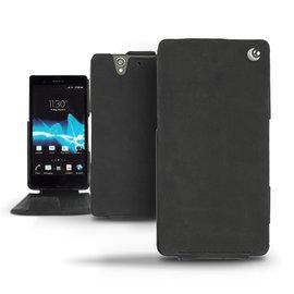 Exception木炭黑 索尼 Sony Xperia Z C6602 手工訂製  法國NOREVE頂級手機皮套 客製化腰掛 Xperia Z皮套 保護套殼 手機套  推薦