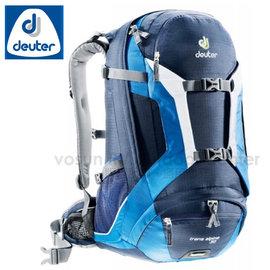 【德國 Deuter】Trans Alpine 30 自行車網架透氣背包.旅遊休閒背包.登山背包.雙肩後背包 _32223 深藍/藍