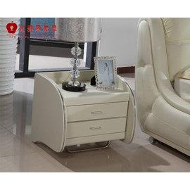 ^~紅蘋果傢俱^~ 610 歐式 真皮軟床配套 皮床 床頭櫃 櫃子 櫥櫃 數千坪展示場