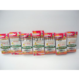 ◎百有釣具◎FLYLEOPARD 競技用 波止サビキ 金蔥魚皮  袖鈎 8門金色規格10號~16號 經常缺貨喔!
