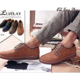 ~ 7折~首爾麂皮拼接 蠟感精緻皮革超輕量底 紳士靴 休閒靴~棕色~ 采靚 鞋飾~ 男鞋