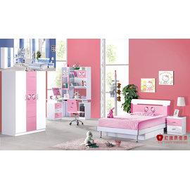 ^~紅蘋果傢俱^~ QC828 凱蒂貓 兒童 青年床組 兒童床 ^(藍色、粉色^) 含