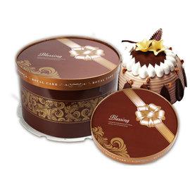 ❤母親節^~送愛的 書❤^~咖啡緞帶^~8吋圓形蛋糕盒 ^(120入 組^)