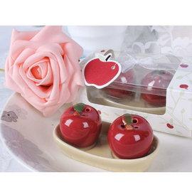 陶瓷蘋果調味罐^(10入^) 精美婚禮小物 禮贈品 ht~0013