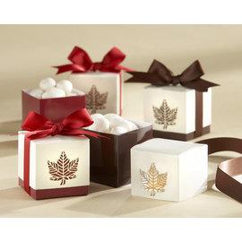 5元 包裝盒楓葉喜糖盒^(50入^) 婚禮用品 結婚用品 婚禮小物 ht~0032