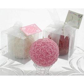 玫瑰花球蠟燭 10入  婚禮用品 結婚用品 婚禮小物 ht~0037
