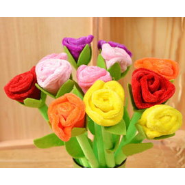 玫瑰花簽名筆 圓珠筆 10入  禮贈品 結婚用品 婚禮小物 ht~0057
