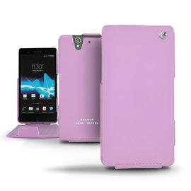 Perpetuelle紫色 索尼 Sony Xperia Z C6602 手工訂製  法國NOREVE頂級手機皮套 客製化腰掛 Xperia Z皮套 保護套殼 手機套  推薦