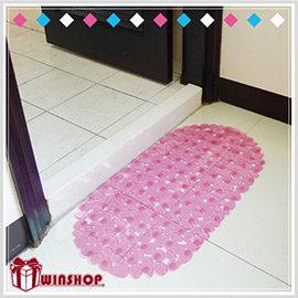 【winshop】A1566 鵝卵石吸盤防滑墊/防滑腳踏墊 地墊 浴室防滑墊 果凍防滑墊 浴缸墊